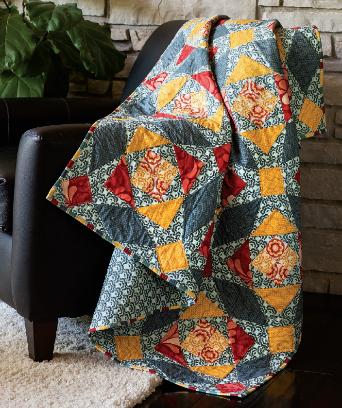 Free Pattern Stormy Seas Quilt By Emily Bailey