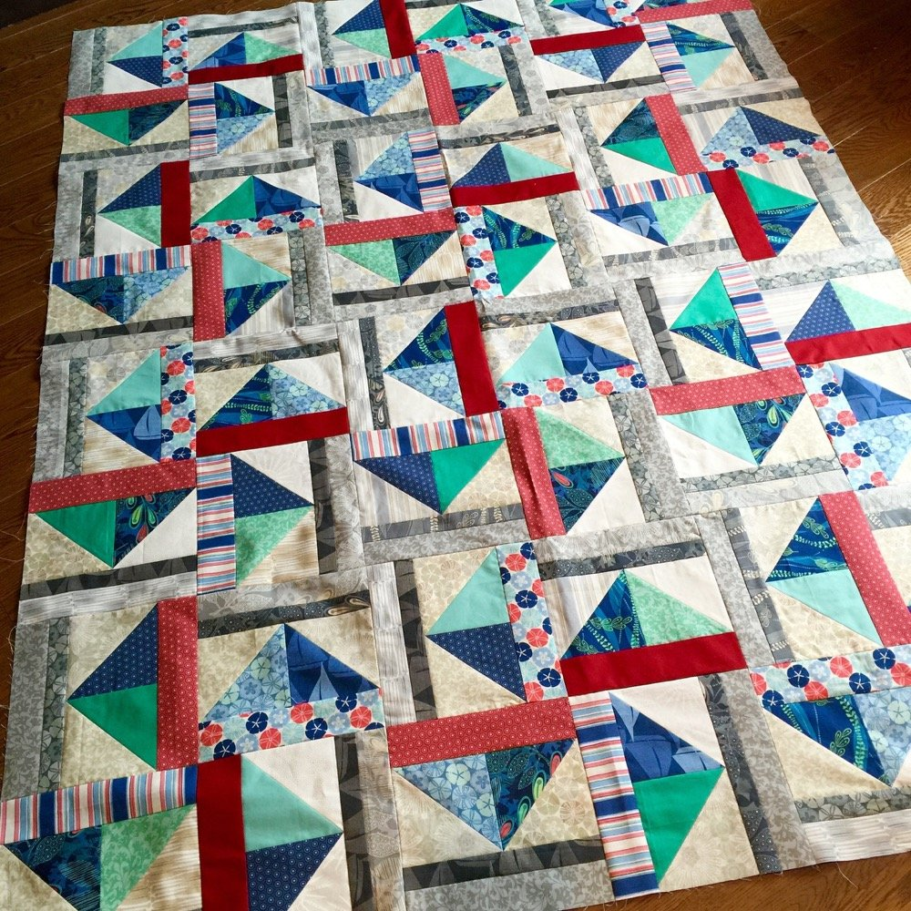 Free Tutorial Summer Breeze Block And Quilt By Sandy