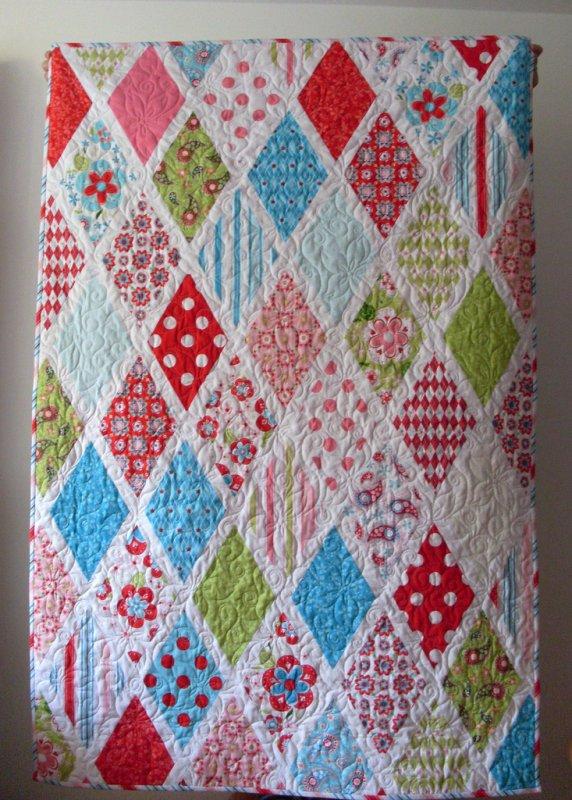 Free Tutorial Sweet Divinity Diamond Quilt By Johanna