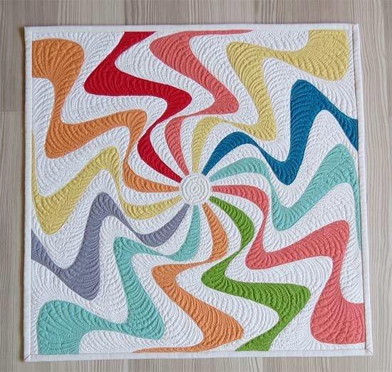 Free Pattern - Lollipop Swirl Raw Edge Applique by Geta Grama
