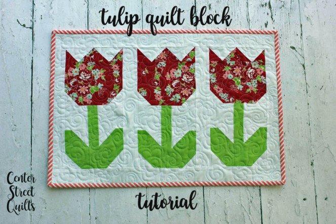 Free Tutorial Tulip Quilt Block By Kristina